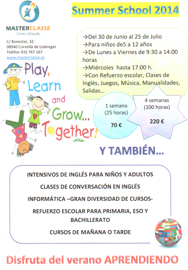 INTENSIVOS DE INGLÉS JULIO Y SUMMER SCHOOL 2014